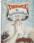 Books:Children's Books, Dr. Seuss. Thidwick the Big-Hearted Moose. New York: RandomHouse, [1948]....
