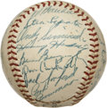 Autographs:Baseballs, 1957 Philadelphia Phillies Team Signed Baseball....