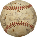 Autographs:Baseballs, 1948 Cincinnati Reds Team Signed Baseball....