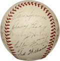 Autographs:Baseballs, 1948 Boston Red Sox Team Signed Baseball....