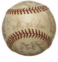 Autographs:Baseballs, 1945 Cleveland Indians Team Signed Baseball....