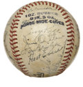 Autographs:Baseballs, 1946 Detroit Tigers Team Signed Baseball....