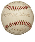 Autographs:Baseballs, 1947 Philadelphia Athletics Team Signed Baseball....
