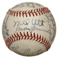 Autographs:Baseballs, 1945 New York Giants Team Signed Baseball....
