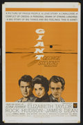 "Movie Posters:Drama, Giant (Warner Brothers, R-1963). One Sheet (27"" X 41""). Drama...."