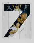"""Baseball Collectibles:Others, Mickey Mantle Signed """"Yankee 7"""" Lithograph...."""