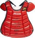 Autographs:Others, 2000 All-Star Game Chest Protector Signed by 5 Catchers....