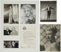 Movie/TV Memorabilia:Autographs and Signed Items, Ginger Rogers Signed Photos.... (Total: 3 Items)
