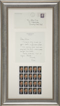 Movie/TV Memorabilia:Autographs and Signed Items, Ronald Reagan Handwritten Letter to Glenn Ford (1981)....