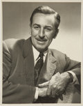 Movie/TV Memorabilia:Autographs and Signed Items, Walt Disney Signed Photo Portrait....