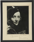 Movie/TV Memorabilia:Autographs and Signed Items, Marlene Dietrich Signed Photo....