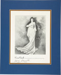 Music Memorabilia:Autographs and Signed Items, Rosa Ponselle Signed Image....