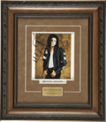 Music Memorabilia:Autographs and Signed Items, Michael Jackson Signed Photo....