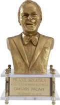Movie/TV Memorabilia:Awards, Frank Sinatra Caesar's Palace/Bust Music Box Commemorating His 40thYear in Show Business....