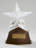 Movie/TV Memorabilia:Awards, Glenn Ford Crystal Star from Richard Nixon....