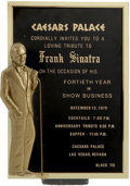 Movie/TV Memorabilia:Memorabilia, Glenn Ford's Keepsakes from Frank Sinatra.... (Total: 4 Items)