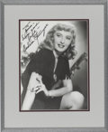 Movie/TV Memorabilia:Autographs and Signed Items, Barbara Stanwyck Signed Photo....