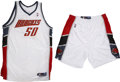 Basketball Collectibles:Uniforms, 2005 Emeka Okafor Game Worn and Signed Full Uniform.... (Total: 2items)