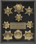 Movie/TV Memorabilia:Awards, Glenn Ford's Honorary California Law Enforcement Badges....