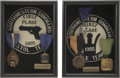 Movie/TV Memorabilia:Awards, Glenn Ford's Shooting Awards (1955).... (Total: 2 Items)