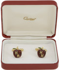 "Movie/TV Memorabilia:Memorabilia, Frank Sinatra's Cartier ""H.H."" Cufflinks from Hubert Humphrey...."
