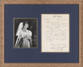 Music Memorabilia:Autographs and Signed Items, Maria Callas Handwritten, Signed Letter (1958)....