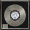 Music Memorabilia:Awards, Baby I'm-A Want You Platinum Album Award....