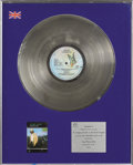Music Memorabilia:Awards, Bread's David Gates Goodbye Girl BPI Platinum AlbumAward....