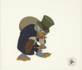 Animation Art:Production Cel, Scrooge McDuck Mickey's Christmas Carol Production CelOriginal Art (Walt Disney, 1983). ...