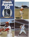 Autographs:Photos, Hank Aaron, Whitey Ford, Joe Morgan, and Curt Flood Autograph Lot.... (Total: 4 items)