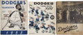 Baseball Collectibles:Publications, Brooklyn Dodgers Yearbooks Lot Of 3....