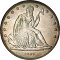 Gobrecht Dollars, 1839 P$1 Name Omitted, Judd-104 Restrike, Pollock-116, R.3, PR50PCGS. CAC....