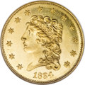 Classic Quarter Eagles, 1834 $2 1/2 Classic MS64 ★ Prooflike NGC. CAC....