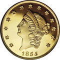 """S.S.C.A. Relic Gold Medals, 1855 $50 SSCA Relic Gold Medal """"1855 Kellogg & Co. Fifty"""" PR69Deep Cameo PCGS...."""