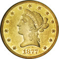 Liberty Eagles, 1877 $10 AU55 NGC....
