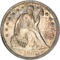 Proof Seated Dollars, 1857 $1 PR64 PCGS. CAC....