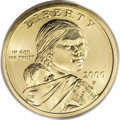 Sacagawea Dollars, 2000-P Cheerios Sacagawea Dollar MS68 and Cheerios Lincoln CentMS66 Red PCGS.... (Total: 2 coins)