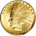 Indian Eagles, 1908-S $10 MS62 PCGS....