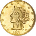 California Fractional Gold, 1871 50C Liberty Round 50 Cents, BG-1046, Low R.7, MS66 NGC....