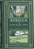 Books:First Editions, Kate Douglas Wiggin. Rebecca of Sunnybrook Farm. Boston:Houghton, Mifflin and Company, 1903....