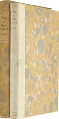 Books:First Editions, Ryllis Clair Alexander, editor. The Diary of David Garrick.Being a Record of His Memorable Trip to Paris in 1751....