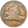 Patterns, 1856 P1C Flying Eagle Cent, Judd-182, Pollock-211, 213, 216, Low R.7, PR64 Brown PCGS....