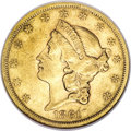 Liberty Double Eagles, 1861-S $20 Paquet XF40 NGC....