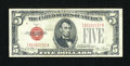 Small Size:Legal Tender Notes, Fr. 1531 $5 1928F Wide I Legal Tender Note. Very Fine.. ...