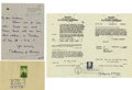 Autographs:Military Figures, World War II Collection.... (Total: 3 Items)