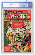 Silver Age (1956-1969):Superhero, The Avengers #1 (Marvel, 1963) CGC VG+ 4.5 Cream to off-white pages....