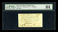 Colonial Notes:North Carolina, North Carolina December, 1771 5s PMG Choice Uncirculated 64....