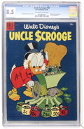 Golden Age (1938-1955):Cartoon Character, Uncle Scrooge #10 (Dell, 1955) CGC VF+ 8.5 Off-white to whitepages....