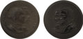 Political:Miscellaneous Political, Grant & Colfax and Seymour & Blair: Pair of Gutta Percha Campaign Clothing Buttons... (Total: 2 Items)
