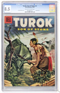 Silver Age (1956-1969):Adventure, Turok #3 (Dell, 1956) CGC VF+ 8.5 Off-white to white pages....